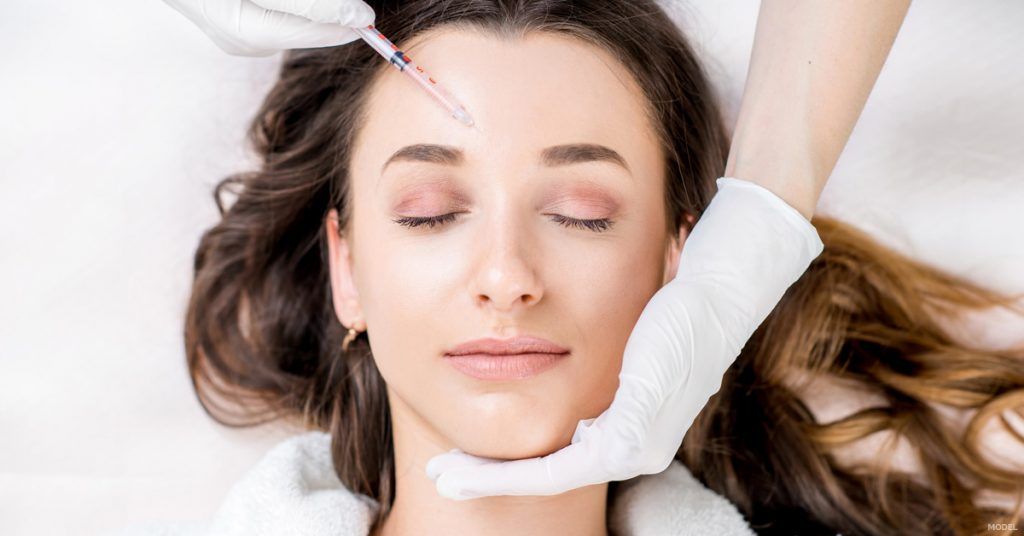 Woman receiving BOTOX injection in Vancouver