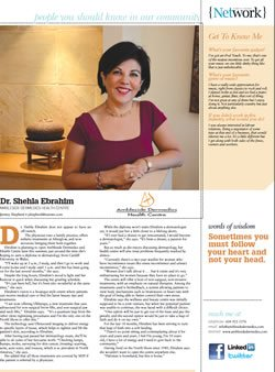 Dr. Ebrahim Featured in North Shore News